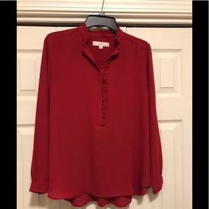 Red Loft shirt.